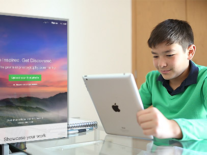 Young Asian Boy Doing Homework Using His iPad App Demo Video 10068a