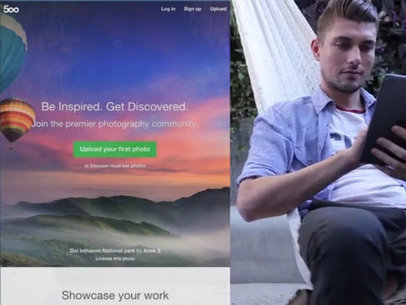 Man Relaxing in a Hammock With His iPad App Demo Video a8783