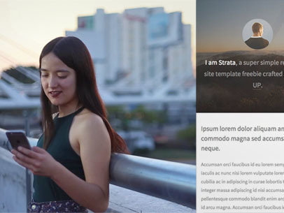 App Demo Video of a Girl Using Her iPhone 6 on a Rooftop in the City a9209