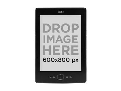 Amazon Kindle Mockup Over a PNG Background a11811print