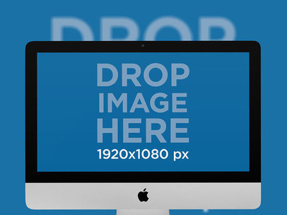 iMac Mockup with a Backdrop a12634