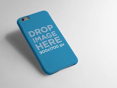 iPhone 6 Plus Phone Case Floating in Angled Position Over a White Background a12883