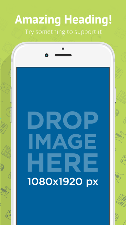 White iPhone 6s Portrait Position Emitting Shadow App Store Screenshot Builder