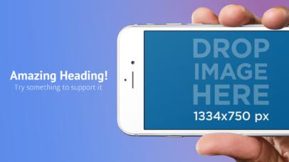 Hand Holding White iPhone 6s iOS Screenshot Generator
