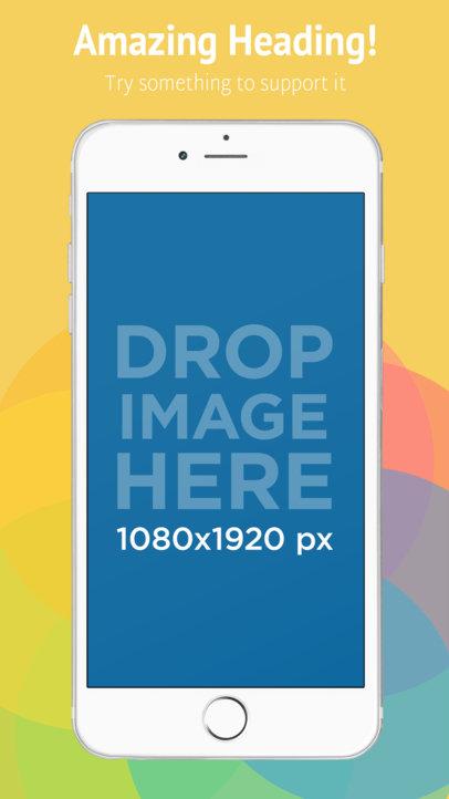 iPhone 6s Plus White Portrait Position Front App Store Screenshot Maker