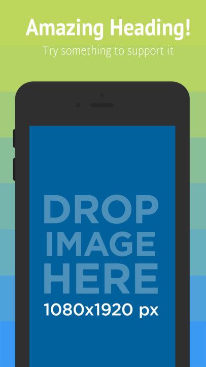 Black iPhone 6s Portrait iOS Screenshot Maker