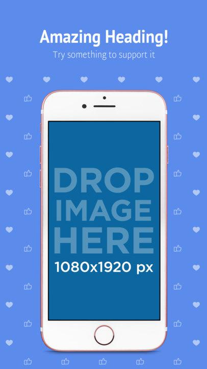 Portrait Pink iPhone 7 iOS Screenshot Generator