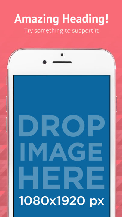 iOS Screenshot Builder Of iPhone 7 Portrait Pink