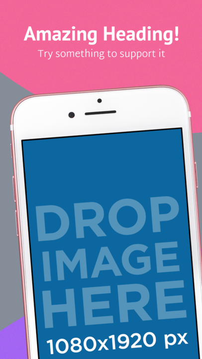 Diagonal Pink iPhone iOS Screenshot Maker