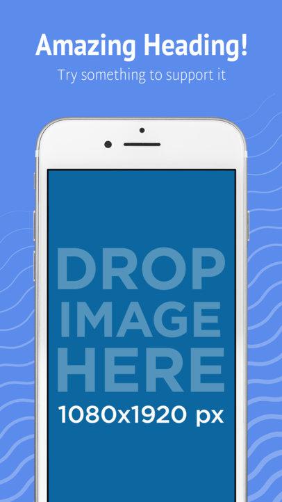 Silver iPhone 7 Three Quarters Portrait App Store Screenshot Generator