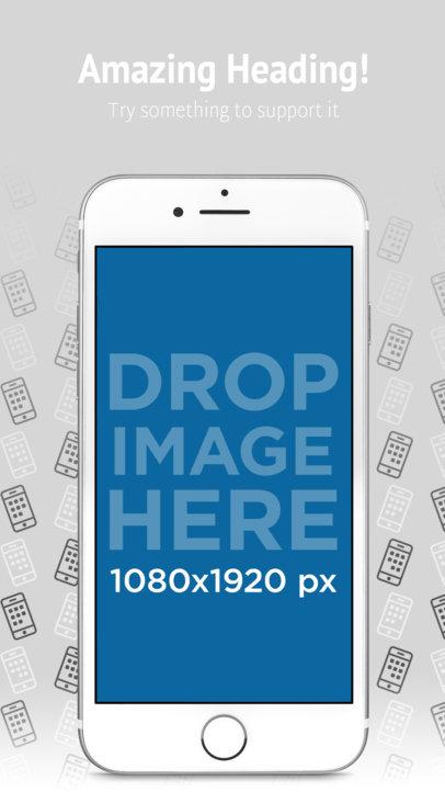 App Store Screenshot Builder iPhone 7 On Portrait Position