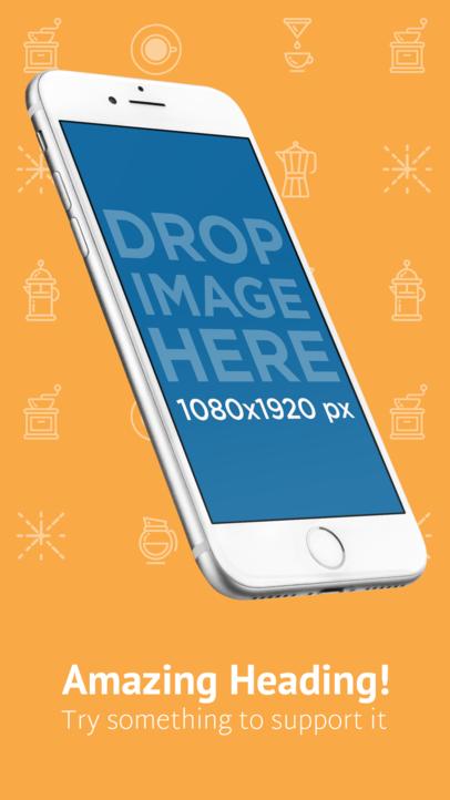 Angled iPhone 7 Floating iOS Screenshot Builder