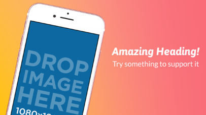 iPhone 7 Pink Diagonal Portrait Position App Store Screenshot Maker Wide