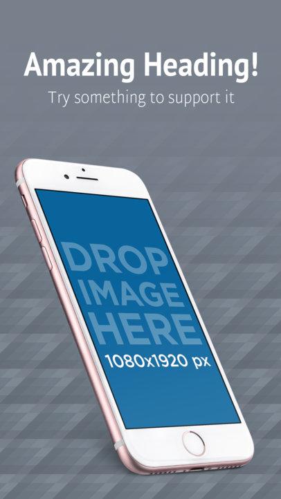 Pink iPhone 7 Angled Screenshot Appstore Builder
