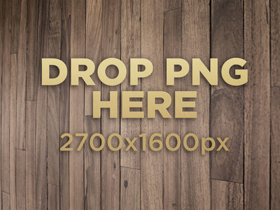 3D Golden Logo Template On a Wooden Wall a14549