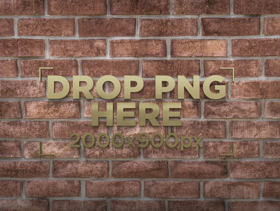 Classic Bricks Wall 3D Logo Template a14553