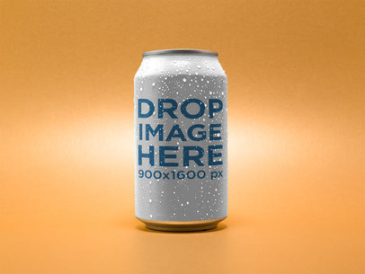 Beer Can Template Over an Orange Background a14678
