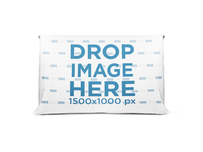 Horizontal Pillow Mockup Standing on a Transparent Background a14954