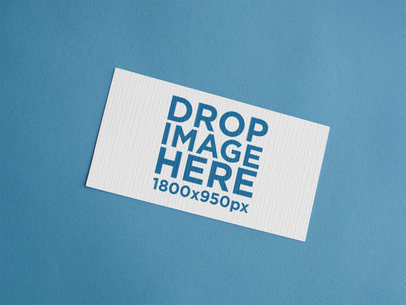 Business Card Mockup Lying on a Light Blue Surface  a15044