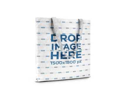 Tote Bag Mockup Standing Against a Transparent Background a15061
