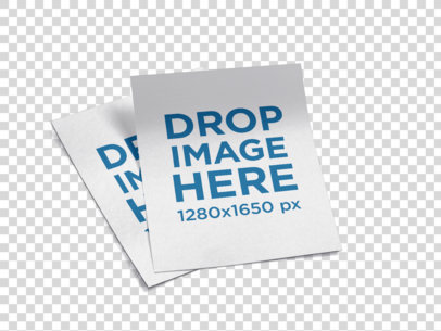 Pair of Flyers Mockup Lying on a Transparent Surface a15047