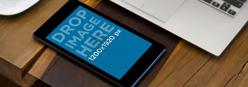 Black Portrait Nexus 7 With Laptop Wide