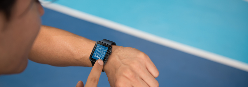 Apple Watch Mockup of a Man Exercising a3840