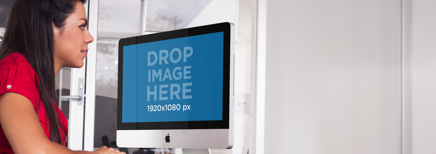 iMac Mockup Template at a Corporate Environment a5172