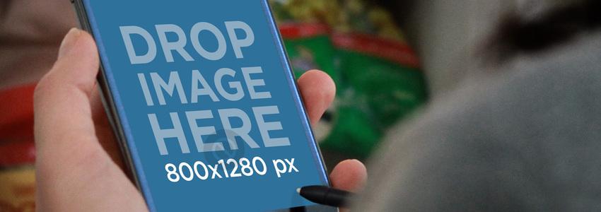 Blue Samsung Galaxy Note Freezer Wide