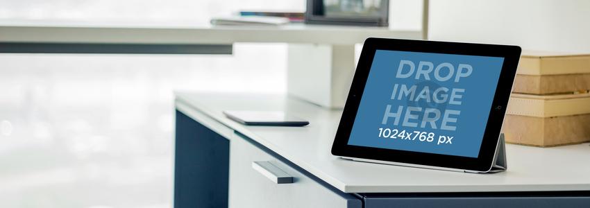 iPad Black Landscape Business Center Wide